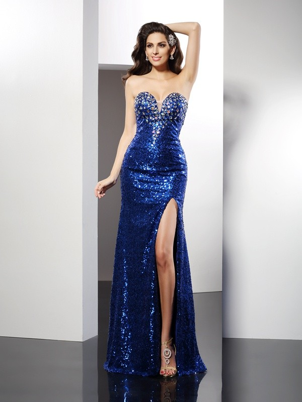 Sheath/Column Sweetheart Sequin Beautiful Long Sequins Dress
