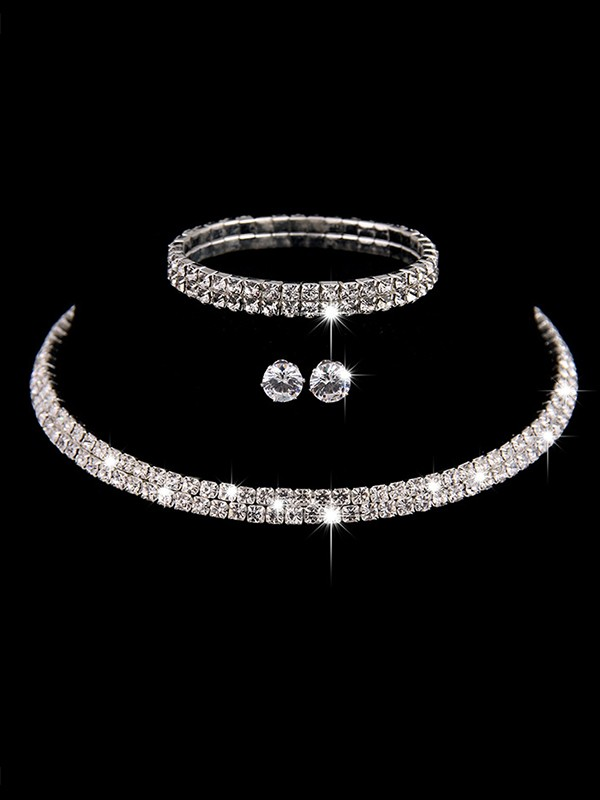 Luxurious Ladies'/Bridal Copper With Rhinestone Jewelry Sets