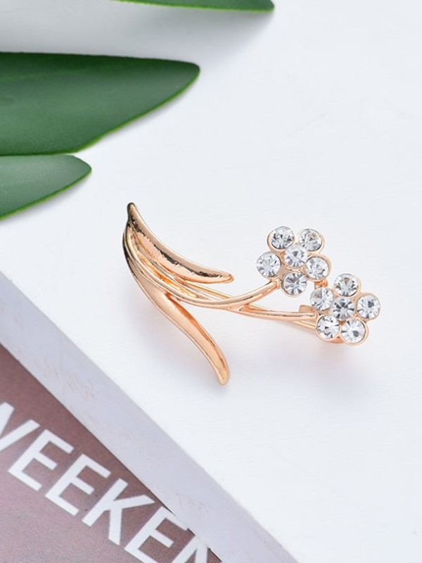 Chic Alloy With Rhinestone Ladies' Brooch