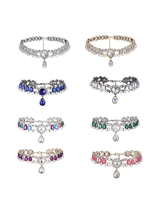 Luxurious Alloy With Rhinestone Hot Sale Chokers