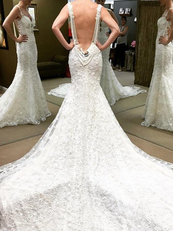 Glitz the Spot Ball Gown Cathedral Train Off-the-Shoulder Lace Wedding Dress