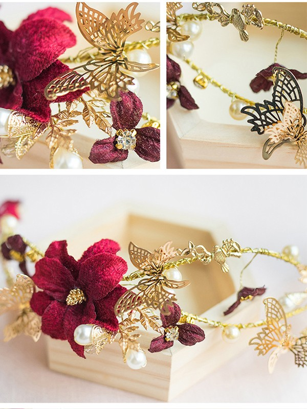 Stunning Flowers Pearl Headpieces