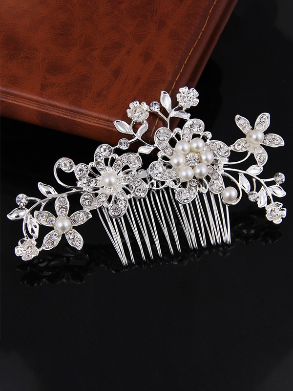 Fashionable Flowers Alloy Headpieces