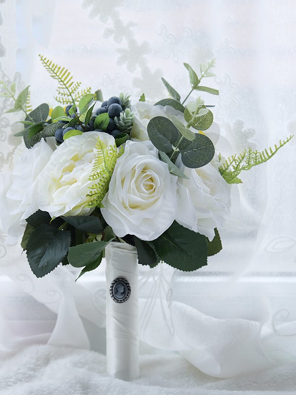 Fancy Free-Form Artificial Flower Bridal Bouquets